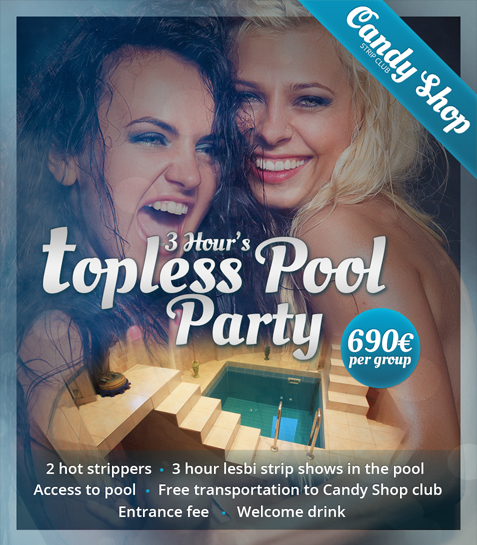 3 Hour's Topless Pool Party